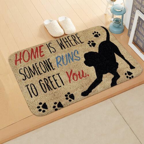Funny Letter Entrance Floor Mats Rug Flannel Non-slip Doormat Outdoor Mat Carpet