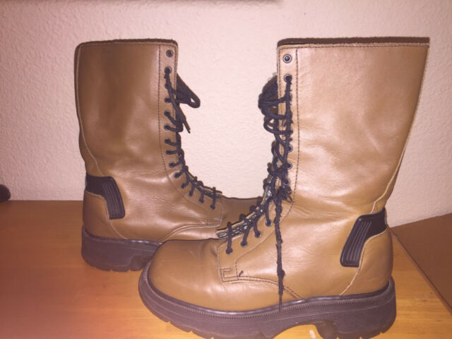 DR.MARTENS Soft Leather Boots Women Size 5 Lace 14 Eye Doc Martens Free Shipping