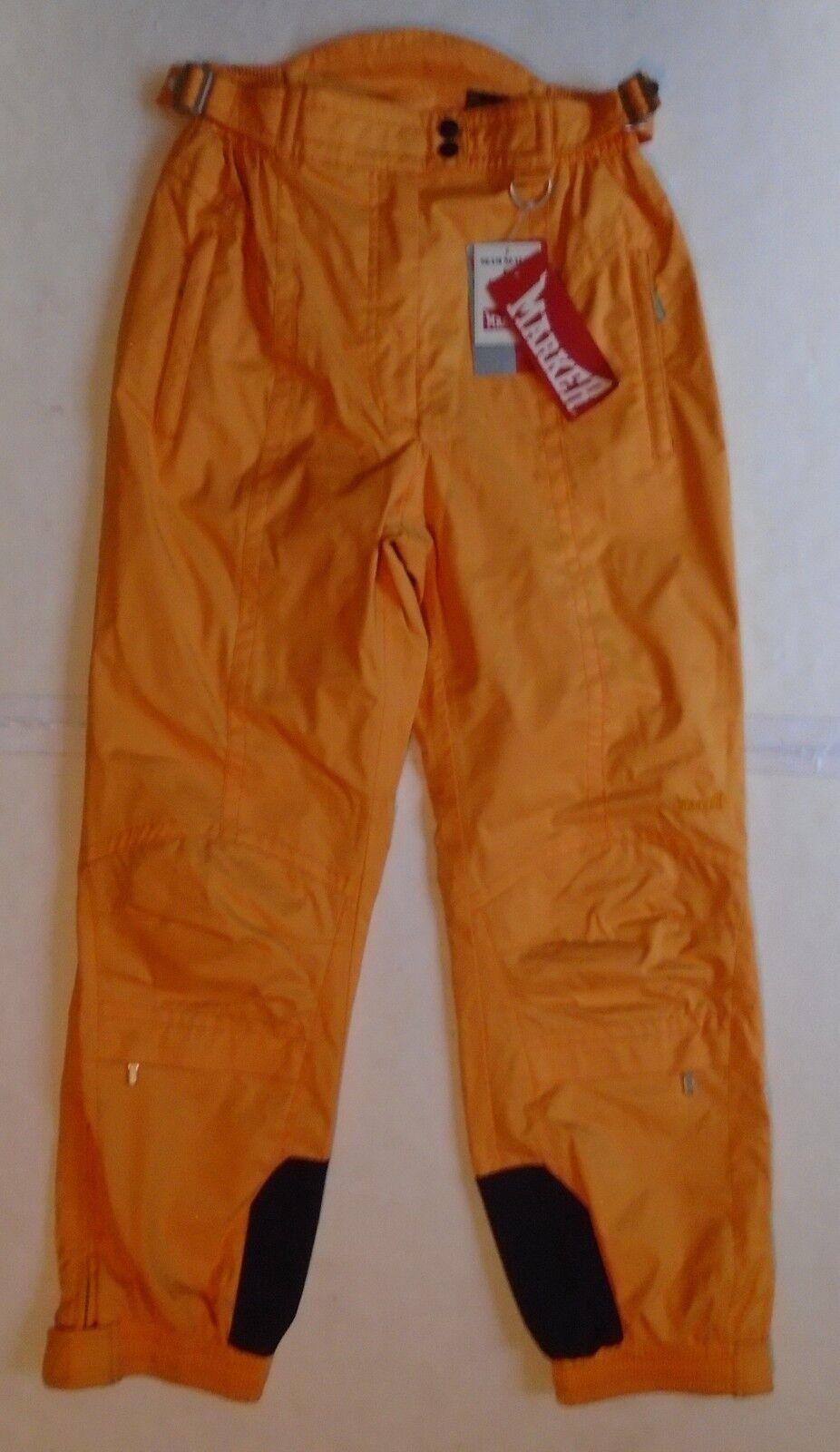 NWT Marker Womens size 8 Waistpant Insulated Snow Ski Pants Mango orange