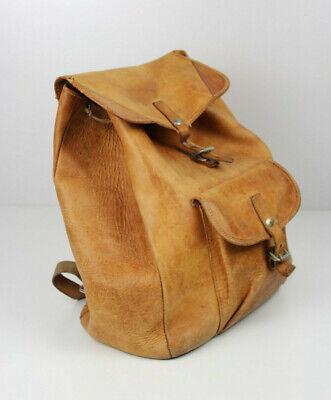 PräZise True Vintage Leder Rucksack Brand Mark Bermas * Leather Bagpack * Sac A Dos Cuir