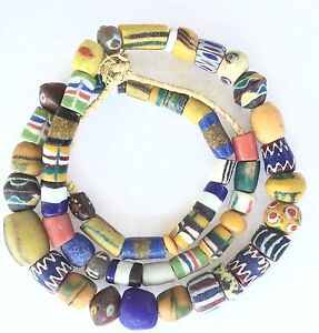 Handmade-African-Ghana-mixed-Powder-Glass-Trade-beads