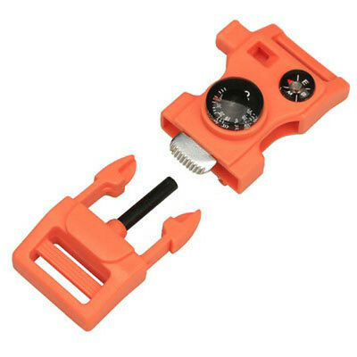 Camping Hiking Side Buckle Fire Flint Compass Pet Whistle Paracord Outdoor NE8