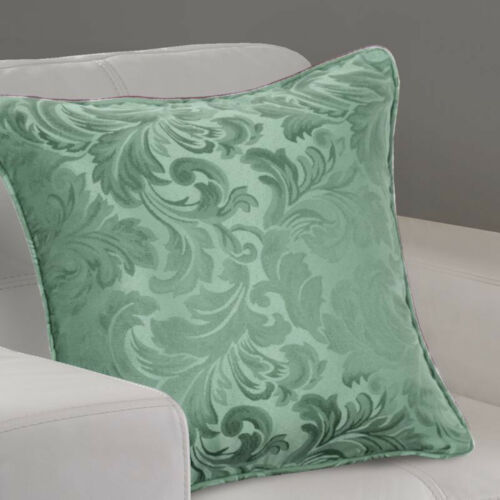Alpine Green Damask Jacquard Pair Of Tape Top Pencil Pleat Fully Lined Curtains