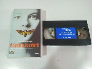 EL-SILENCIO-DE-LOS-CORDEROS-JODIE-FOSTER-Anthony-HOPKINS-VHS-Cinta-Tape