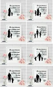 The Love Between A Mother A Father Sons Daughters Sticker For