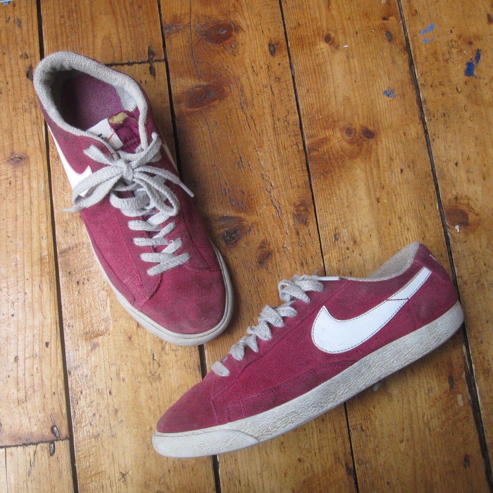 Nike Blazer blazers basse Lo Top Baskets rouge unisexe femme homme uk 6