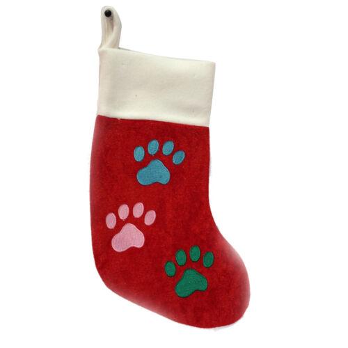 Dog CHRISTMAS Gift Pet Xmas Stocking Toys Collar Santa Hat Squeaky Treat