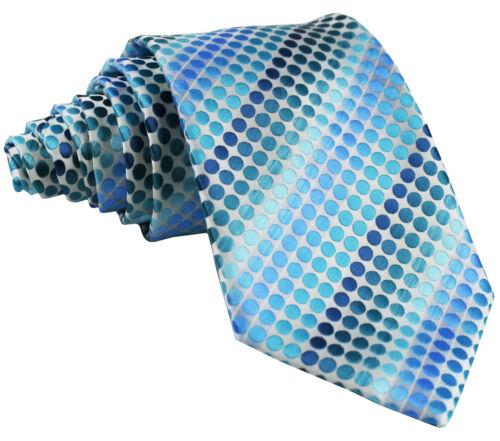 MEN/'S POLKA DOTS Pattern Neck tie Necktie Only Formal Party Prom Wedding Blues