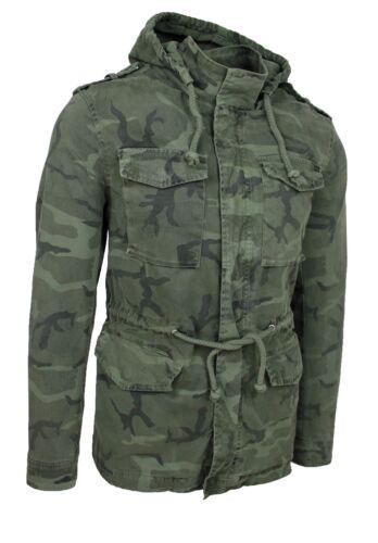 veste Parka homme vert camouflage military blazer veste à capuche