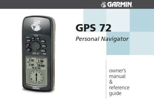 garmin gps 72 owners manual reference guide reprinted a4 comb bound rh ebay co uk Garmin GPS 72 USB Cable instruction manual for garmin gps 72h