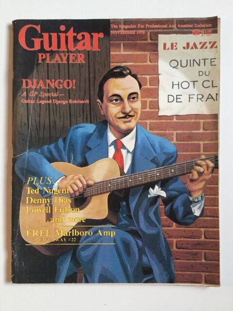 Guitar Player Magazine  November 1976 Django, Ted Nugent