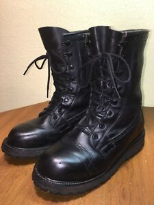 uk availability 100% high quality various colors Details about US Military Black Leather Insulated Cold Weather Combat Boots  Sz 6.5 XW