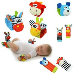 Baby-Hand-Strap-Wrist-Strap-Foot-Socks-Rattle-Animal-Rattle-Soft-Toy