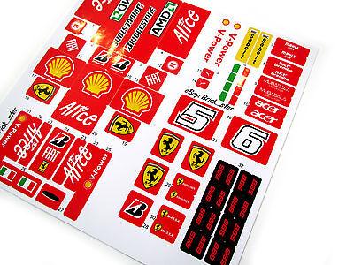 ETC VERY NICE! CUSTOM STICKERS for LEGO 8157 Ferrari F1 MODELS TOYS