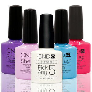 CHOOSE-5-Nail-Polish-CND-Shellac-UV-Gel-0-25-Ounces-Manicure-Soak-Off-Color-Coat