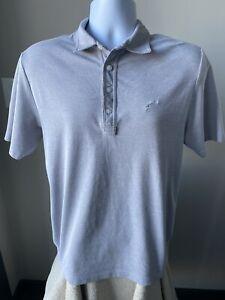 Travis-Mathew-Men-039-s-Shirt-Polo-Solid-Light-Gray-Size-Medium-M