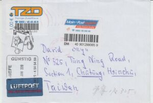 Tzd-Main-Postlogistik-Beleg-Lettre-apres-Taiwan