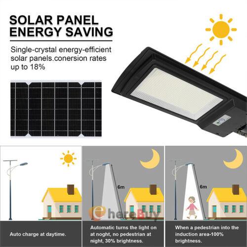 99000LM 150W Dusk-to-Dawn Solar LED Street Light Outdoor Security Area Spotlight