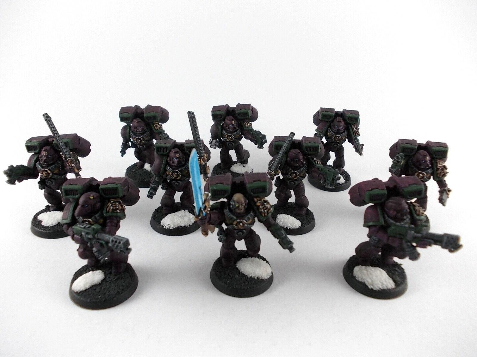 10 uomini ASSAULT SQUAD-Tempesta squadra della  Blood Angels-ben dipinto - 2  grande sconto
