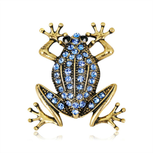 Femmes Strass Grenouille Métal Broche revers écharpe PIN Fashion Vintage Jewelry