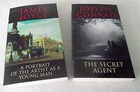 Classics James Joyce Joseph Conrad Secret Agent Portrait Artist Young Man 2 Lot