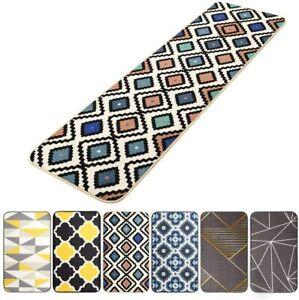1 Pic 17x118in Geometric Pattern Kitchen Runner Rugs Non Skid Machine Washable Ebay