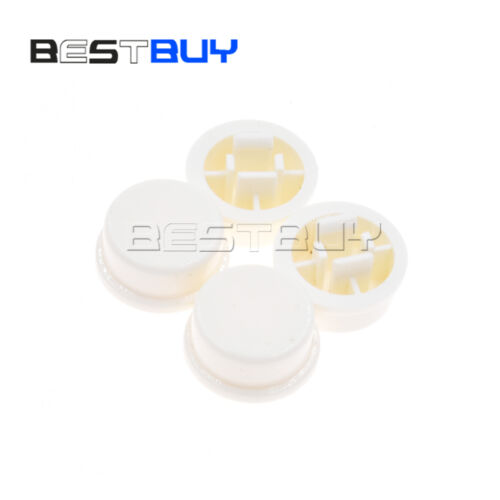 10//100PCS colorful Tact Switches Round Tactile Button Caps 12×12×7.3mm BBC
