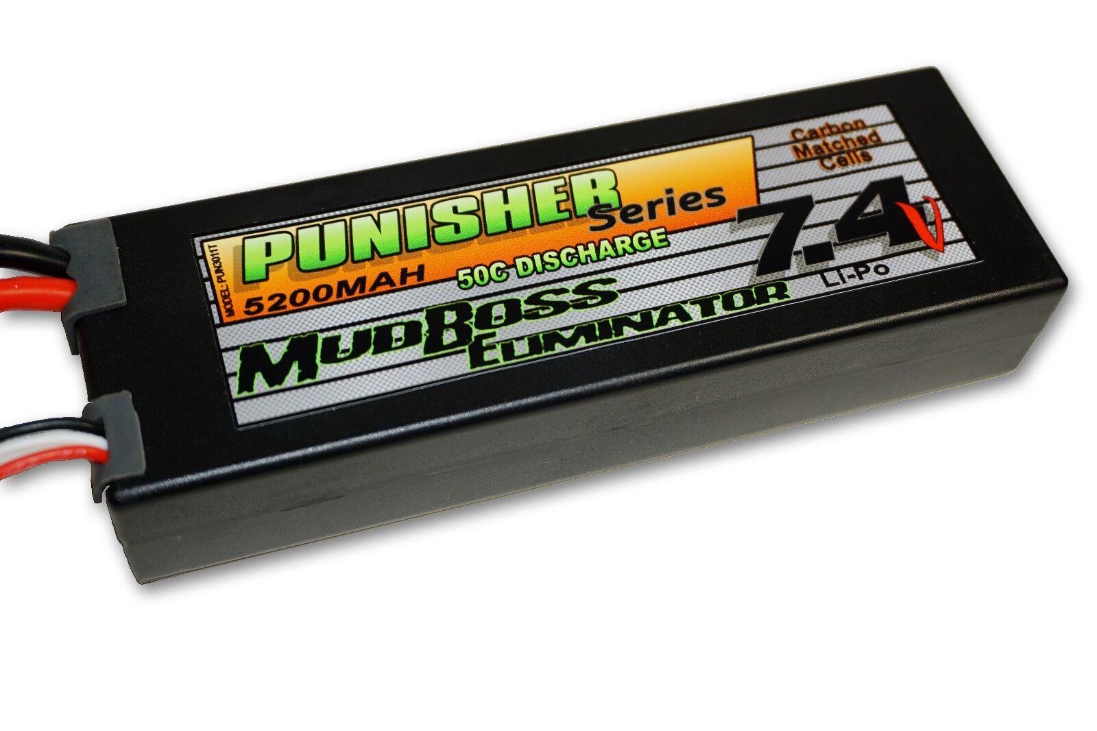Punisher - serie  mudboss einrichtung  5200mah 50c 2cell fettabsaugung (traxxas stecker) 7.4v