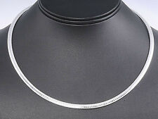 USA Seller Italian Omega 4mm Necklace Sterling Silver 925 Best Deal Jewelry 16""