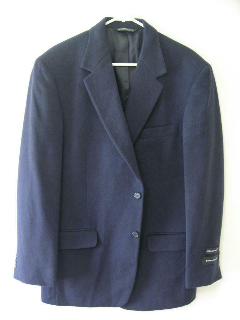 (B78) NEW EVAN PICONE PURE SOFT CAMEL HAIR NAVY BLAZER- 40L