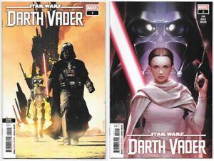 Star-Wars-Darth-Vader-1-2nd-print-amp-2-NM-2020-Marvel-Comics-1st-App-Zed-Sabe