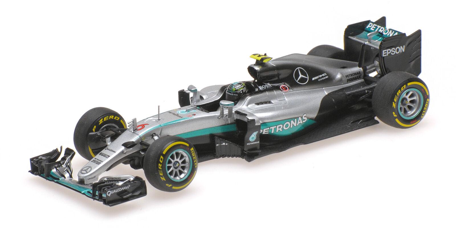 Mercedes Amg W07 Nico Rosberg World Champion 2016 MINICHAMPS 1:43 410160706