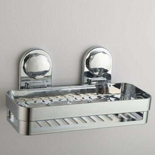 Home Rustproof Bath Suction Caddy Bathroom Tidy Storage Basket Shelf Holder #HA2
