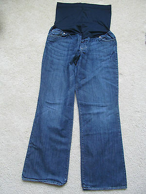 Women S Liz Lange Maternity For Target Blue Jean Pregnancy Pants Size 8 Bootcut Ebay