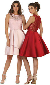 Details about NEW SIMPLE SHORT PROM DINNER CRUISE GALA HOMECOMING DRESS  UNDER $100 & PLUS SIZE
