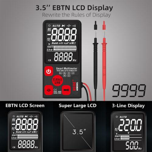 BSIDE ADMS9CL Digital Multimeter 9999  Counts AC//DC Voltage  Current Meter