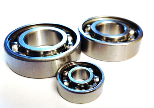 6300-6306 OPEN SERIES..HIGH PERFORMANCE BEARINGS..Chrome or Stainless