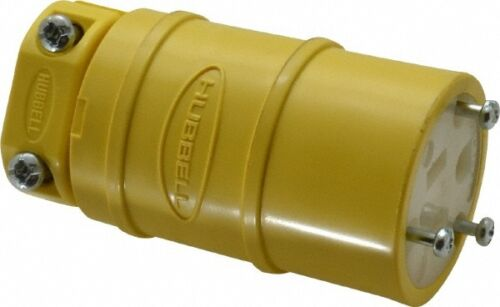 NEW IN BOX! 10 HUBBELL HBL1547 STRAIGHT BLADE CONNECTOR BODY ELASTOGRIP
