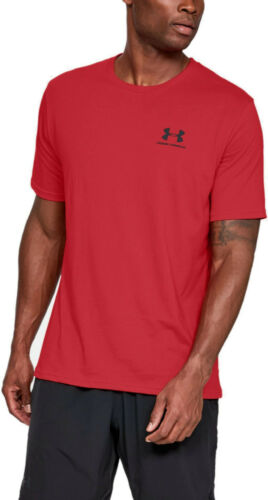 Mens Under Armour Sportstyle Left Chest Logo T Shirt Loose Fit Mens Tee NEW