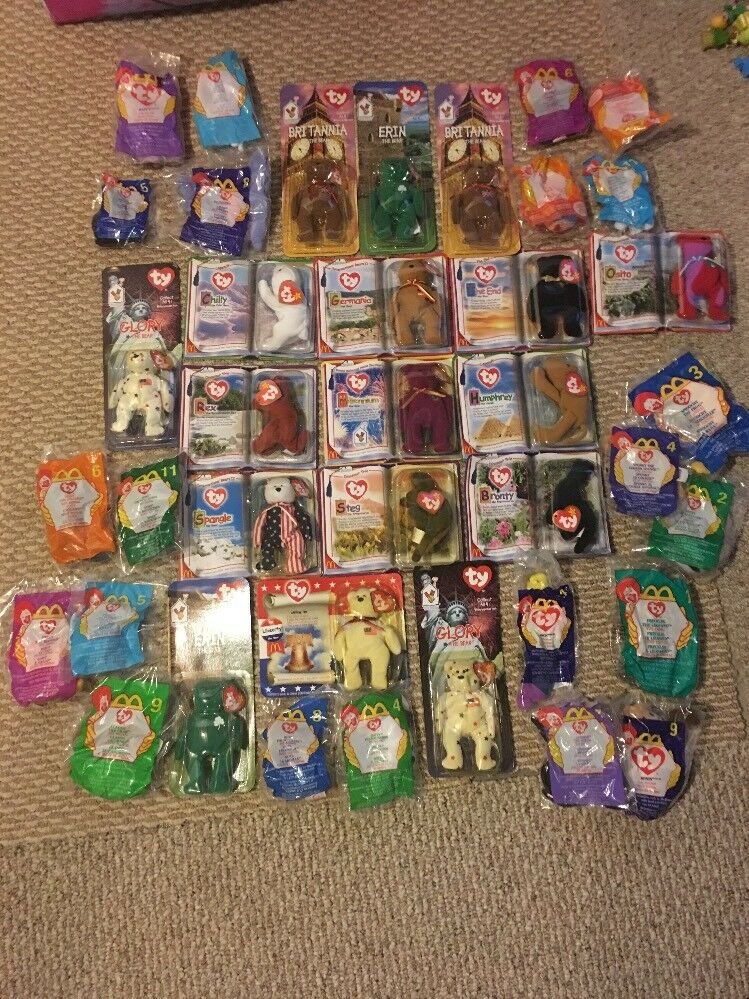 Lot of 39 TY Beanie Babies Huge Lot Rare New Never Opened, Error Tags,McDonald's