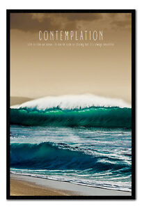Contemplation-Motivational-Quote-Framed-Cork-Pin-Notice-Board-With-Pins