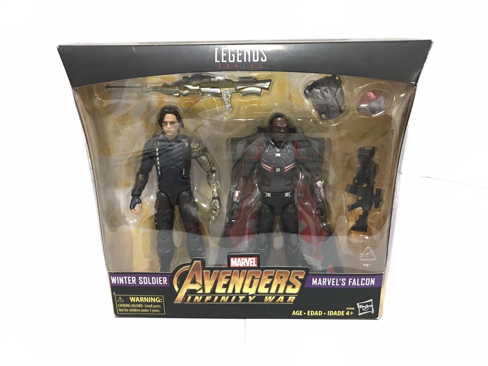 Marvel leggende Avengers  INFINITY GUERRA SOLDATO D'INVERNO & Falcon 2 PACK di destinazione