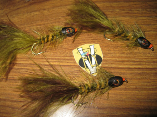 V Fly Size 4 Ultimate Rio Grande Skull-Head Wooly Bugger Sea Trout Flies