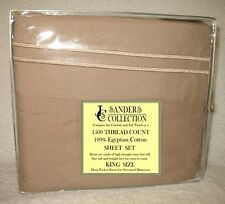 1500 TC THREAD COUNT LUXURY EGYPTIAN COTTON SHEET SET KING SIZE TAUPE BROWN