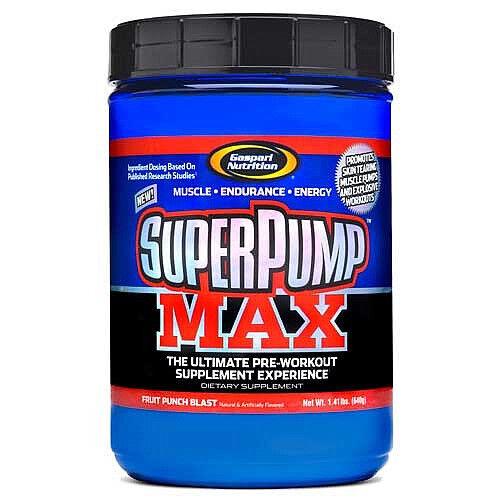 Gaspari Superpump Max - 640g (40 Portionen) - Vor-Workout Getränk (Blaue