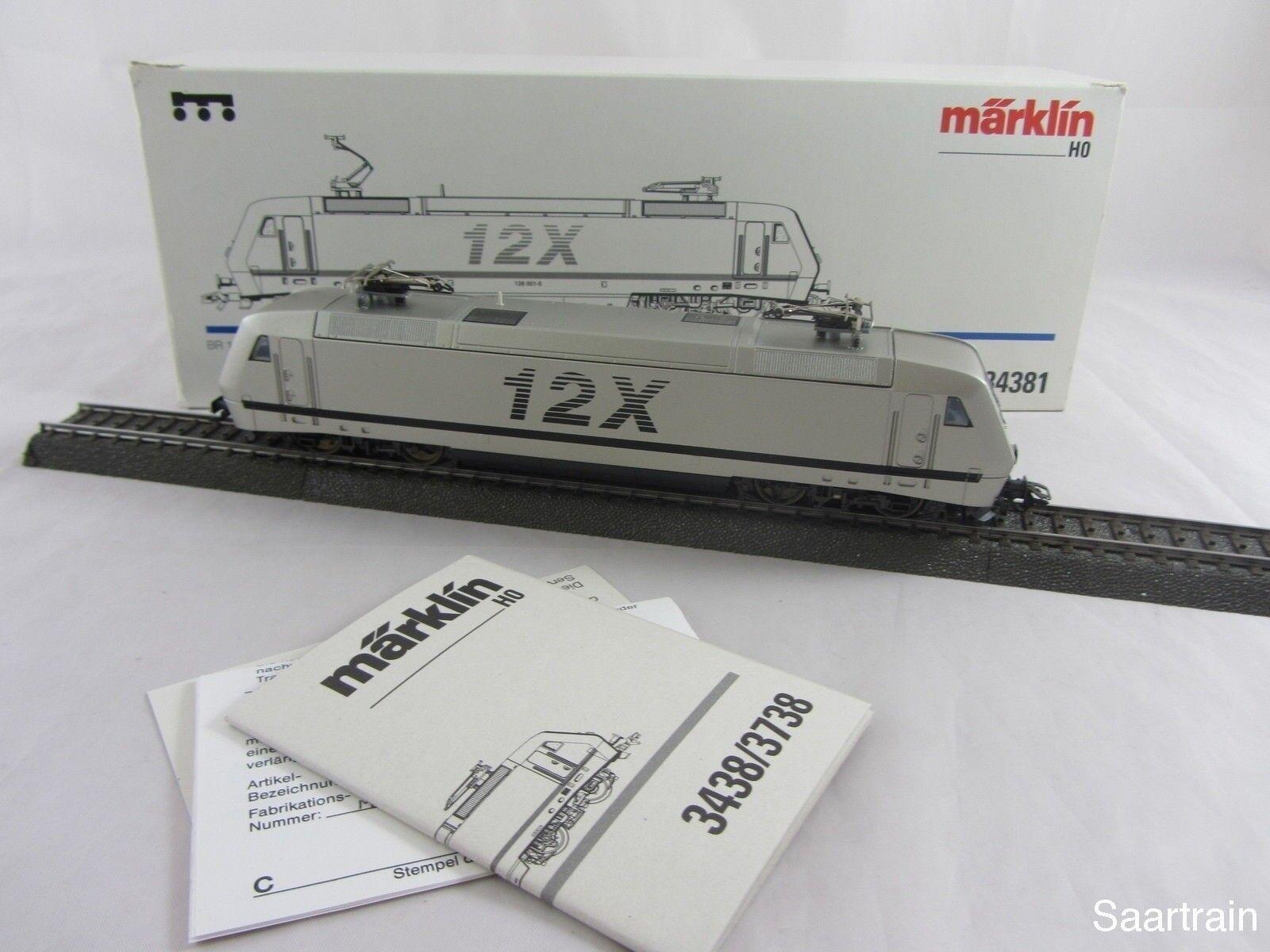 Märklin 34381 serie siano 128 001 5 e Lok 12x in prima d'argento... buone condizioni e con imballo originale