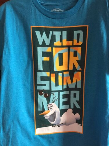 Disney/'s Frozen Wild For Summer Olaf Graphic T Shirt M NWT Teal New Youth tee