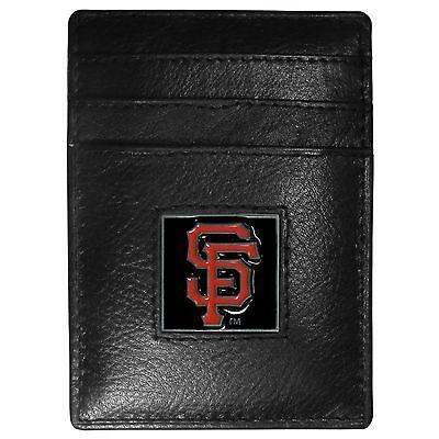 San Francisco Giants Mlb Leder Kartenhalter Geldklammer Sport Fein Korn Portemonnaie Baseball & Softball