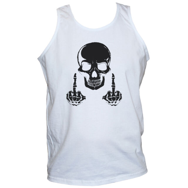 a660b5a5b F*CK SKULL Rude Offensive T SHIRT Rockabilly Goth Punk Rock Funny Graphic  Tee