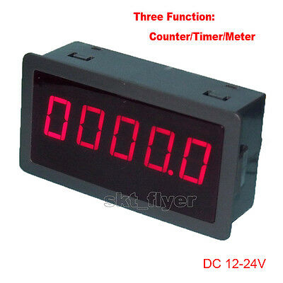 "0.56/"" Red LED Digital Reversible Counter Meter Up /& Down DC12-24V High Quality"